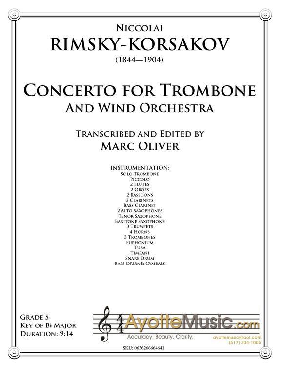 Rimsky-Korsakov - RK Trombone Concerto, arr  Marc Oliver - Trombone
