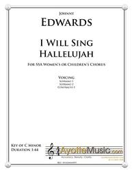 Edwards - I Will Sing Halelujah (Digital PDF Download)