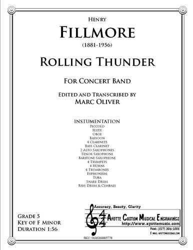 Fillmore - Rolling Thunder (Concert Band) (Digital PDF