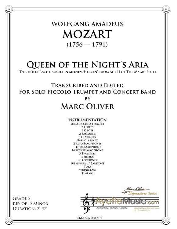 Mozart - Queen of the Night Aria, arr  Marc Oliver - Trumpet