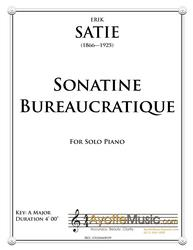 Satie - Sonatine Bureaucratique (Digital PDF Download)