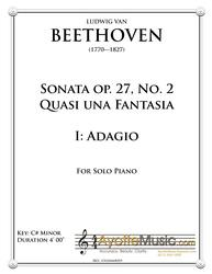Beethoven - Moonlight Sonata (first movement) (Digital PDF Download)