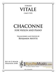 Vitale - Chaconne for Violin and Piano (Digital PDF Download)