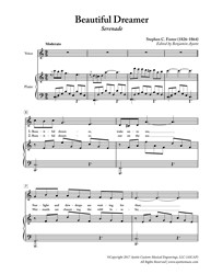 Foster - Beautiful Dreamer for Low Voice in C (Digital PDF Download)