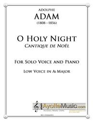 Adam - O Holy Night / Cantique de Noel for Low Voice in Ab Major (Digital PDF Download)