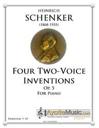 Schenker - Four Two-Voice Inventions op. 5 (Digital PDF Download)