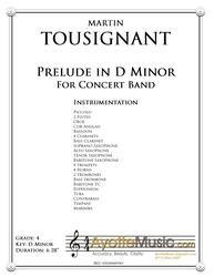 Tousignant - Prelude in D Minor (Digital PDF Download)