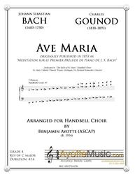 Bach-Gounod Ave Maria for 5-Octave Handbell Choir (Digital PDF Download)