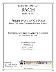 Fugue No. 1 in C Major (WTC Book 1) for Clarinet Quartet