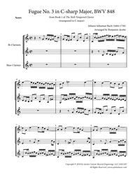Fugue No. 3 in C#  Major (WTC Book 1) for Clarinet Trio