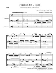 Fugue No. 1 in C Major (WTC Book 2) for String Trio