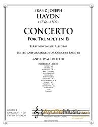 Haydn - Trumpet Concerto in Eb (transcribed for Concert Band) First Movement (Digital PDF Download)
